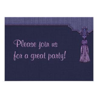 Purple Tassel Invitation
