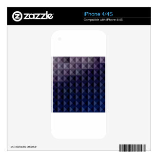 Purple Taupe Abstract Low Polygon Background iPhone 4S Decal