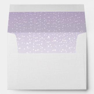 Purple Tea Envelope Sparkling Wedding Collection