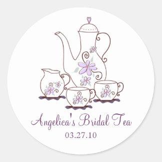 Purple Tea Set Bridal Tea Stickers