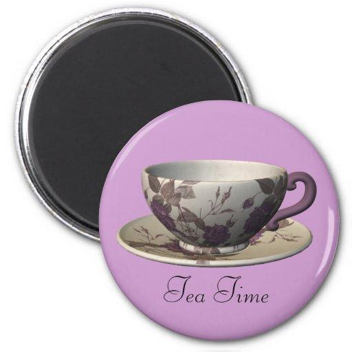Purple Tea Time Magnet