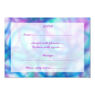 Purple, Teal and Blue RSVP. Card