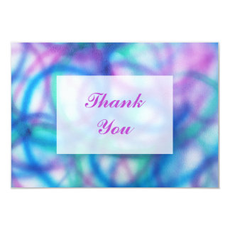 Purple, Teal and Blue Thank You Message Card