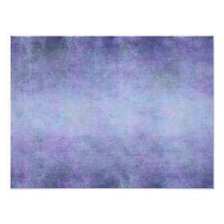 Purple, Teal Blue, Aqua, and Violet Watercolor Poster