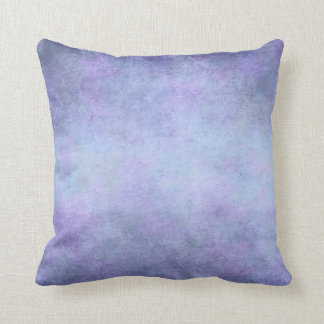 Purple, Teal Blue, Aqua, and Violet Watercolor Throw Pillow