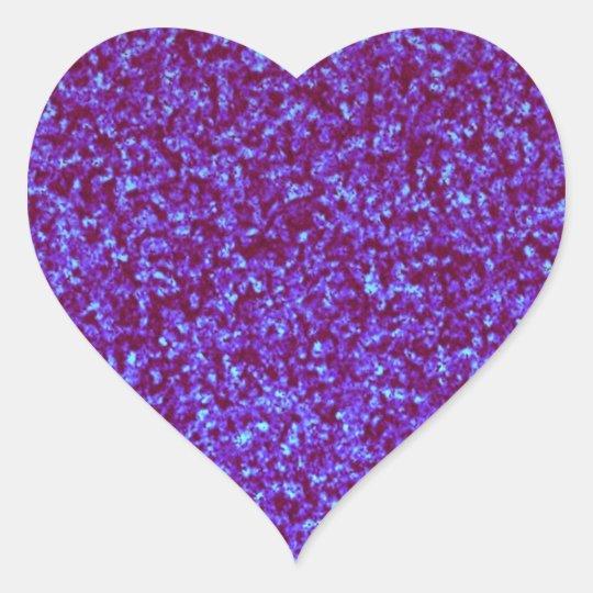 Purple teal blue glitter combo heart sticker