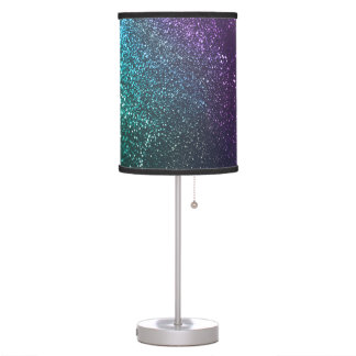 Purple Teal Blue Green Glittery Lamp