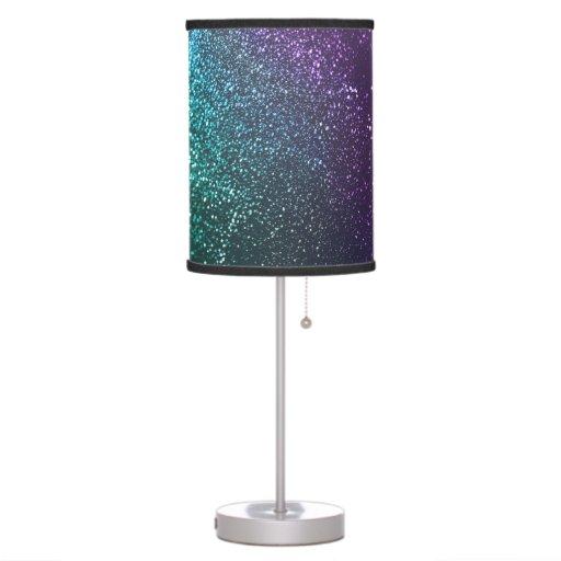 purple teal blue green glittery lamp zazzle. Black Bedroom Furniture Sets. Home Design Ideas