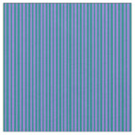 [ Thumbnail: Purple & Teal Colored Stripes Pattern Fabric ]