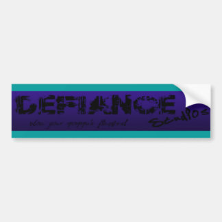 Purple & Teal Defiance Studios Logo Bumper Sticker Car Bumper Sticker