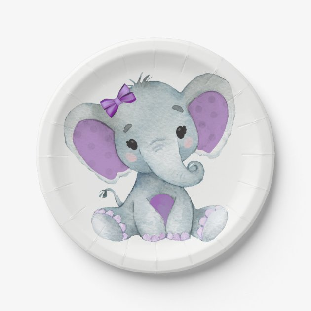 AEX Little Baby Girl Pink Birthday Party Baby Shower Tableware Collection