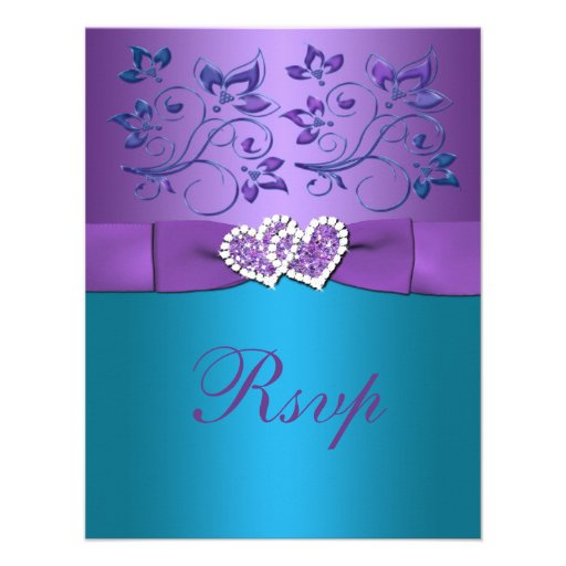 Purple And Teal Wedding Invitations can inspire you to create best invitation template