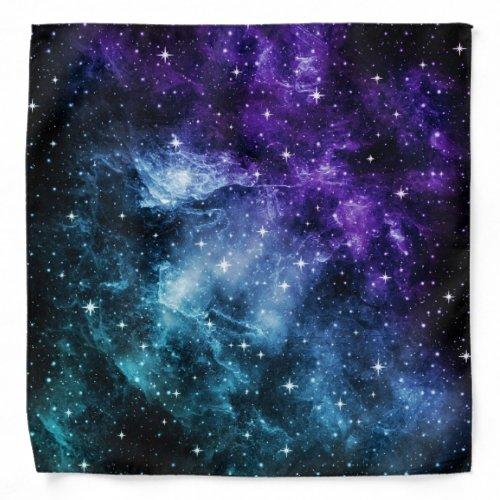 Purple Teal Galaxy Nebula Dream #1 Bandana