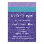 Purple Teal Little Princess Girl Baby Shower S209 Custom Invite