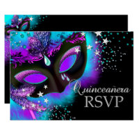 quinceanera invitations masquerade