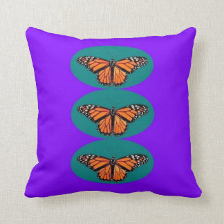 Purple & Teal Monarch Butterfly by Sharles Pillows