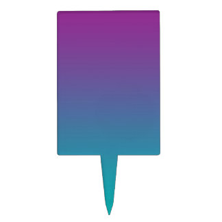 Purple & Teal Ombre Cake Topper