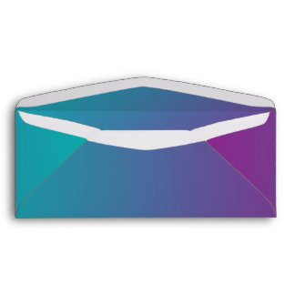 Purple & Teal Ombre Envelope