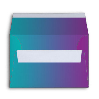Purple & Teal Ombre Envelope