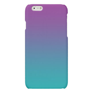 Purple & Teal Ombre Matte iPhone 6 Case