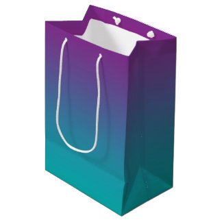 Purple & Teal Ombre Medium Gift Bag