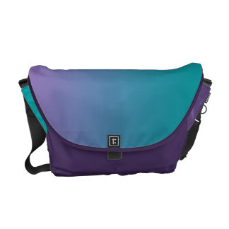 Purple & Teal Ombre Messenger Bag
