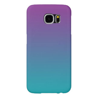 Purple & Teal Ombre Samsung Galaxy S6 Case