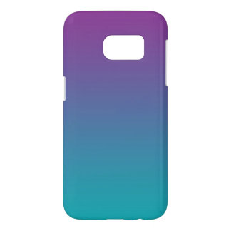 Purple & Teal Ombre Samsung Galaxy S7 Case