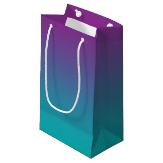 Purple & Teal Ombre Small Gift Bag
