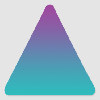 Purple & Teal Ombre Triangle Sticker