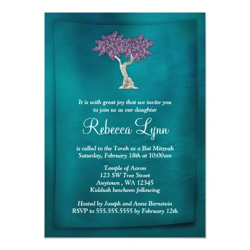 Tree Of Life Invitation Rsvp Celtic Life By: Bat Mitzvah, Quinceanera, Sweet 16