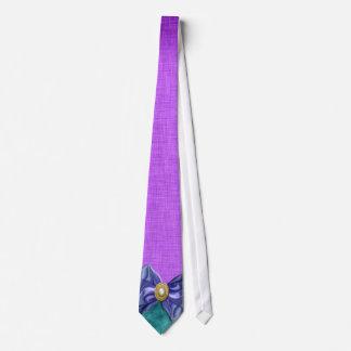 Purple teal wedding exclusive designer neck tie
