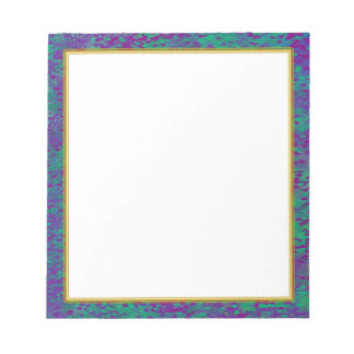Purple Teal White Small Note Pad
