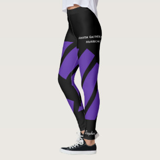 Purple Team/Club Leggings with Fake Shorts