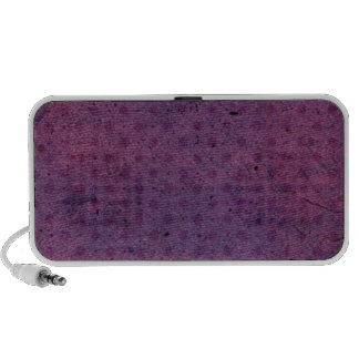 PURPLE TEAWASHED DOT CREATIONS iPod SPEAKER
