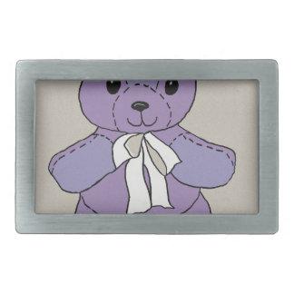 PURPLE TEDDY BEAR BELT BUCKLE