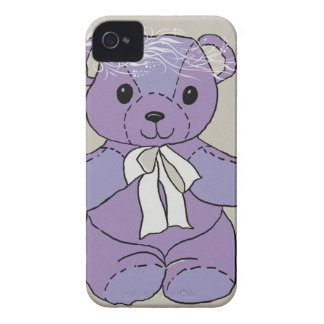 PURPLE TEDDY BEAR iPhone 4 CASE
