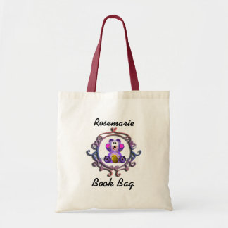 Purple Teddy Bear with honey bee hive and frame Tote Bag