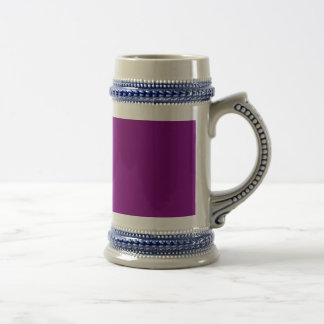 Purple template Customize with pictures and text Beer Stein