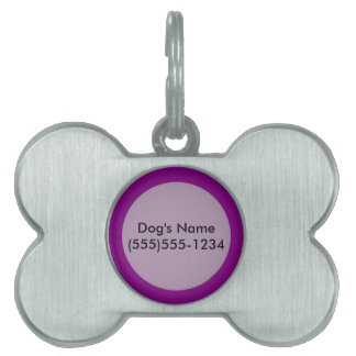 Purple template Customize with pictures and text Pet Name Tag