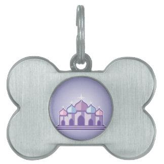 Purple Temple Pet Name Tag