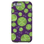 Purple tennis balls rackets and nets tough iPhone 6 case