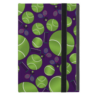 Purple tennis balls rackets and nets cover for iPad mini