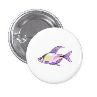 Purple Tetra Fish Buttons
