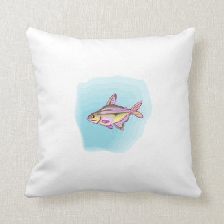 Purple Tetra Fish Throw Pillows