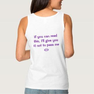 Purple text: Do not pass Tank Top