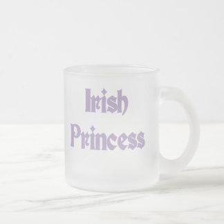 Purple Text Irish Princess Mug