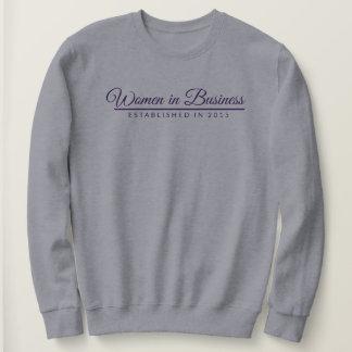 Purple Text, WiB, Established in 2015 with line Sweatshirt