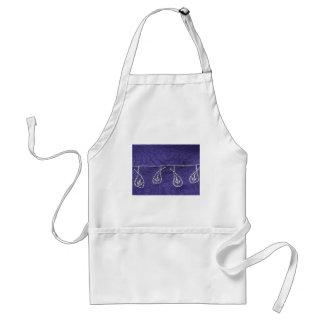purple textile background adult apron