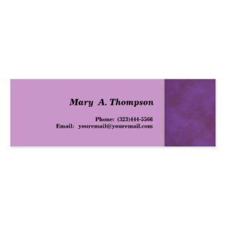 Purple texture side border Double-Sided mini business cards (Pack of 20)